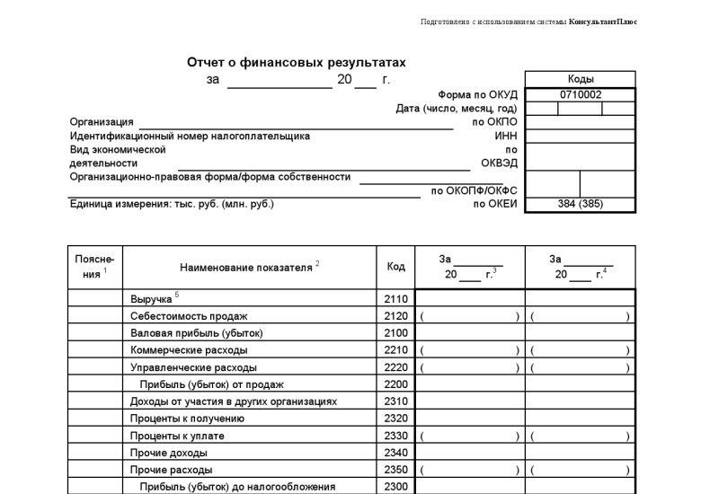 бланк отчета о финансовых результатах 2016 скачать - фото 5